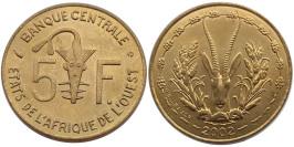 5 франков 2002 Западная Африка