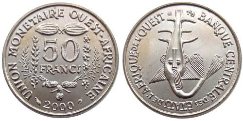 50 франков 2000 Западная Африка