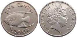 5 центов 2003 Бермуды