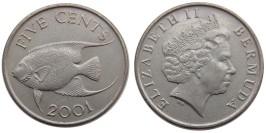 5 центов 2001 Бермуды