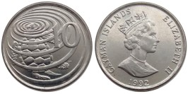 10 центов 1992 Каймановы острова