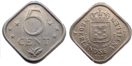 5 центов 1976 Нидерландские Антильские острова