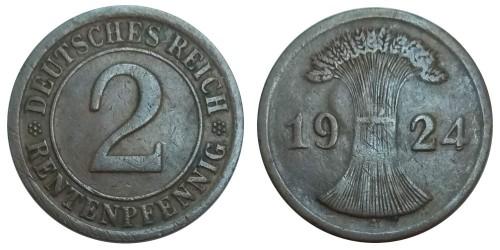 2 рентенпфеннига 1924 «А» Германия