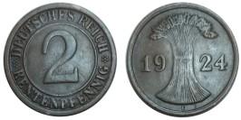 2 рентенпфеннига 1924 «E» Германия