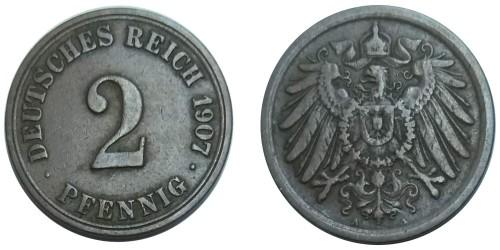 2 пфеннига 1907 «A» Германская империя