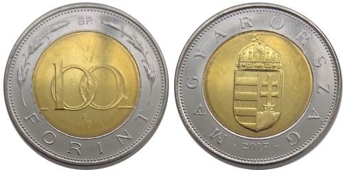 100 форинтов 2017 Венгрия