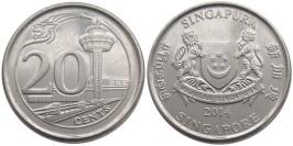 20 центов 2014 Сингапур