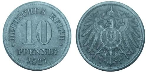 10 пфеннигов 1921 Германия — не магнетик