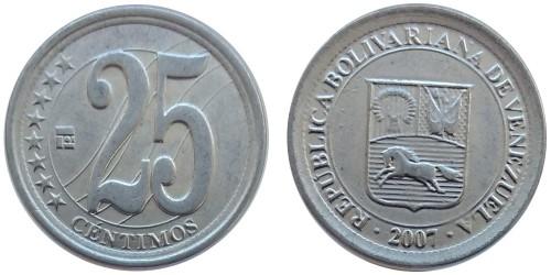 25 сентимо 2007 Венесуэла UNC