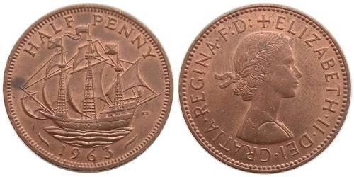 1/2 пенни 1963 Великобритания