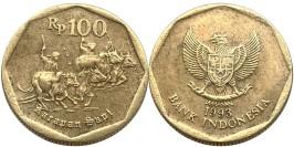 100 рупий 1993 Индонезия