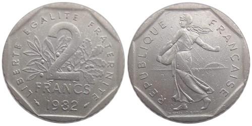 2 франка 1982 Франция
