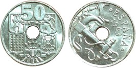 50 сентимо 1963 Испания — 64 внутри звезды