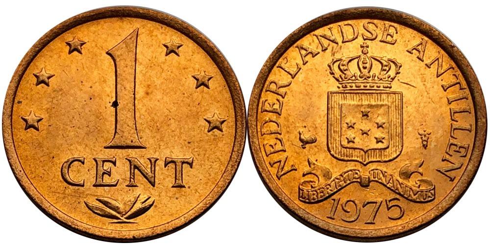 1 цент 1975 Нидерландские Антильские острова