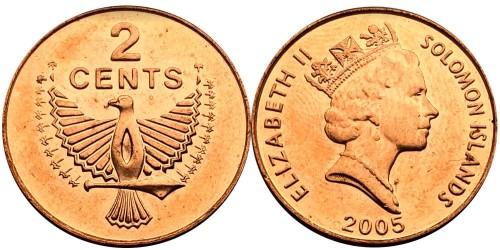 2 цента 2005 Соломоновы острова UNC