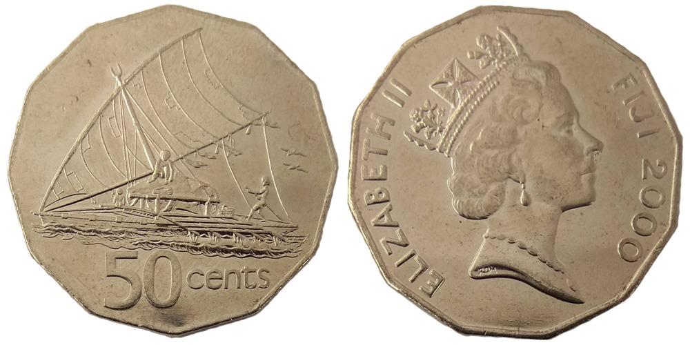 50 центов 2000 Фиджи