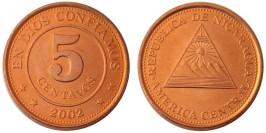 5 сентаво 2002 Никарагуа