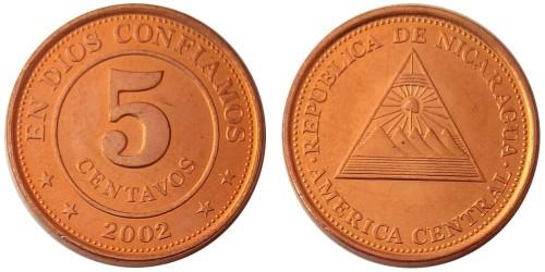 5 сентаво 2002 Никарагуа UNC