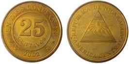 25 сентаво 2002 Никарагуа UNC