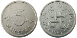 5 марок 1957 Финляндия