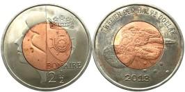 2.5 доллара 2013 остров Бонайре