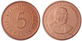 5 центов 1999 Маврикий UNC