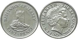 5 пенсов 2012 остров Джерси