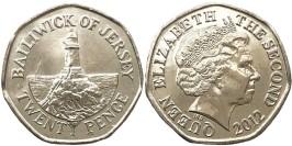 20 пенсов 2012 остров Джерси