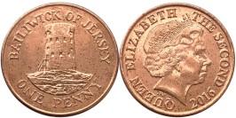 1 пенни 2016 остров Джерси