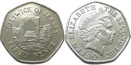 50 пенсов 2014 остров Джерси