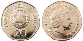 20 пенсов 2012 остров Гернси