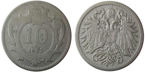 10 геллеров 1895 Австрия