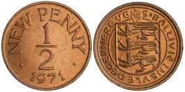 1/2 пенни 1971 остров Гернси