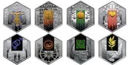 Набор монет 5 гривен 2018 Украина — Эра мира, перемен, технологий и Человек, время, пространство