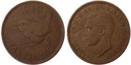 1 фартинг 1940 Великобритания