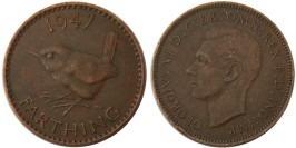 1 фартинг 1947 Великобритания