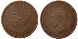 1 фартинг 1937 Великобритания