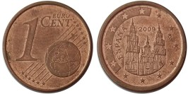 1 евроцент 2009 Испания