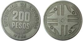 200 песо 2008 Колумбия