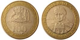 100 песо 2015 Чили