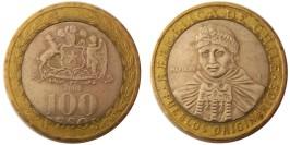 100 песо 2008 Чили