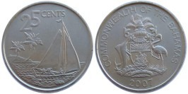 25 центов 2007 Багамские Острова