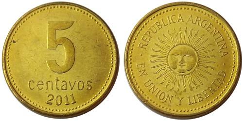 5 сентаво 2011 Аргентина UNC
