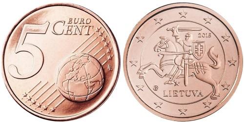 5 евроцентов 2015 Литва UNC