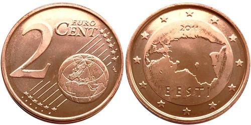 2 евроцента 2011 Эстония UNC