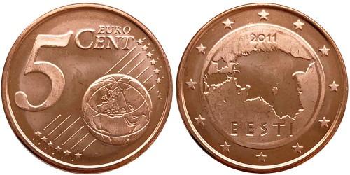 5 евроцентов 2011 Эстония UNC
