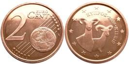 2 евроцента 2009 Кипр UNC