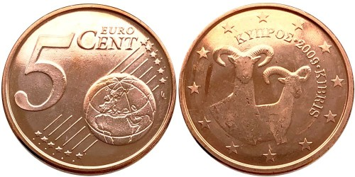 5 евроцентов 2009 Кипр UNC
