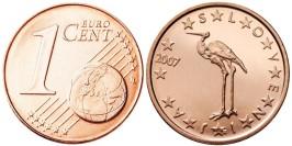 1 евроцент 2007 Словения UNC