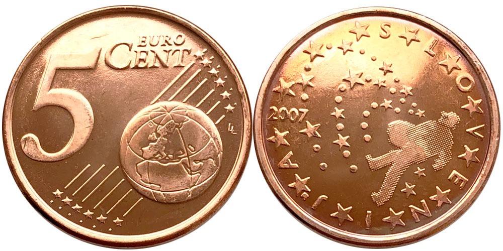 5 евроцентов 2007 Словения UNC